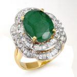 7.04 ctw Emerald & Diamond Ring 14K Yellow