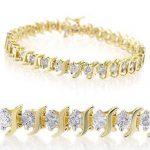 4.0 ctw Certified VS/SI Diamond Bracelet 10K Yellow