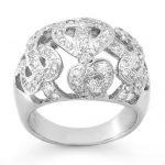 0.85 ctw Certified VS/SI Diamond Ring 18K White