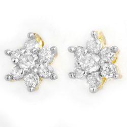 0.20 ctw Certified VS/SI Diamond Earrings 10K Yellow