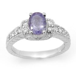 2.0 ctw Tanzanite & Diamond Ring 14K White