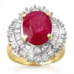 6.15 ctw Ruby & Diamond Ring 14K Yellow