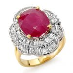 5.59 ctw Ruby & Diamond Ring 14K Yellow