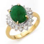 4.85 ctw Emerald & Diamond Ring 14K Yellow