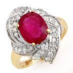 3.55 ctw Ruby & Diamond Ring 14K Yellow