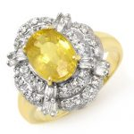 3.05 ctw Yellow Sapphire & Diamond Ring 14K Yellow