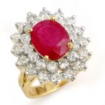 8.0 ctw Ruby & Diamond Ring 14K Yellow