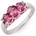 1.16 ctw Pink Sapphire & Diamond Ring 14K White