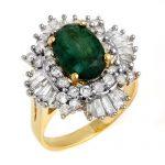3.90 ctw Emerald & Diamond Ring 14K Yellow