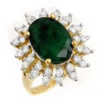 6.45 ctw Emerald & Diamond Ring 14K Yellow