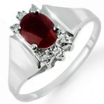 1.10 ctw Ruby & Diamond Ring 10K White