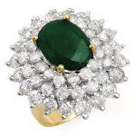 10.02 ctw Emerald & Diamond Ring 14K Yellow