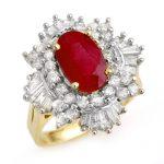 4.70 ctw Ruby & Diamond Ring 14K Yellow
