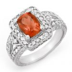 2.85 ctw Rubellite & Diamond Ring 14K White