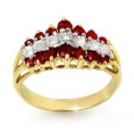 1.06 ctw Ruby & Diamond Ring 10K Yellow