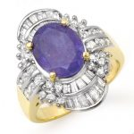 5.20 ctw Tanzanite & Diamond Ring 14K Yellow