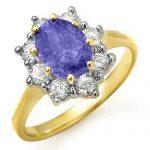 2.75 ctw Tanzanite & Diamond Ring 14K Yellow