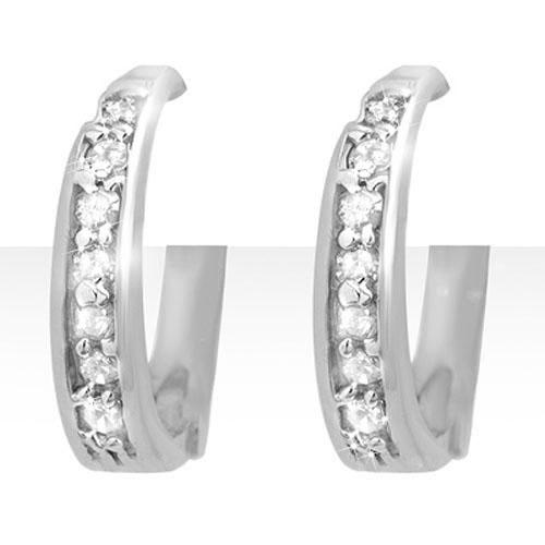 0.20 ctw Certified VS/SI Diamond Earrings 18K White