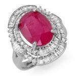 5.75 ctw Ruby & Diamond Ring 18K White