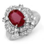 2.84 ctw Ruby & Diamond Ring 18K White