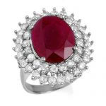 9.83 ctw Ruby & Diamond Ring 18K White