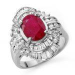 4.58 ctw Ruby & Diamond Ring 18K White