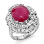 5.59 ctw Ruby & Diamond Ring 18K White