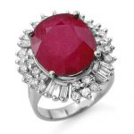 10.65 ctw Ruby & Diamond Ring 18K White