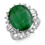 10.07 ctw Emerald & Diamond Ring 18K White