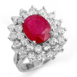 8.0 ctw Ruby & Diamond Ring 18K White