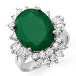 5.41 ctw Emerald & Diamond Ring 18K White