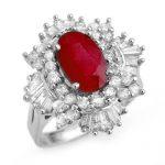 4.70 ctw Ruby & Diamond Ring 18K White