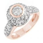 2.20 ctw Certified VS/SI Diamond Ring 18K Rose