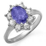 2.75 ctw Tanzanite & Diamond Ring 18K White