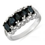 2.0 ctw Blue Sapphire & Diamond Ring 10K White