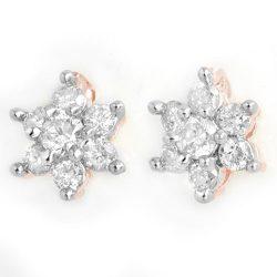 0.50 ctw Certified VS/SI Diamond Earrings 14K Rose