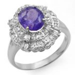 2.70 ctw Tanzanite & Diamond Ring 18K White