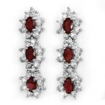 2.81 ctw Ruby & Diamond Earrings 18K White