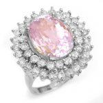 12.08 ctw Kunzite & Diamond Ring 18K White