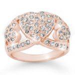 1.50 ctw Certified VS/SI Diamond Ring 14K Rose