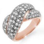 2.05 ctw Certified VS/SI Diamond Ring 14K Rose
